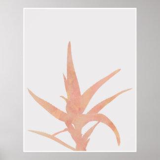 Pink Watercolor Desert Cactus Poster