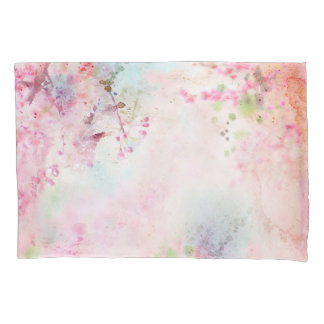 Pink Watercolor Floral (1 side) Pillowcase