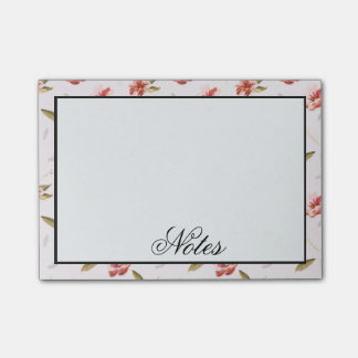 Pink Watercolor Floral Garden Post-it Notes