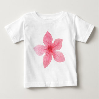 pink watercolor flower baby T-Shirt