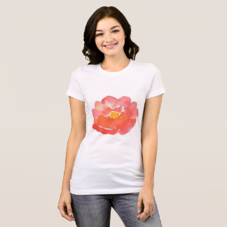 Pink Watercolor Flower | Cute Girl T-Shirt