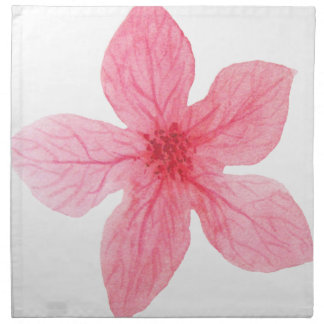 pink watercolor flower napkin