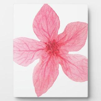 pink watercolor flower plaque