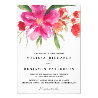Shop Zazzle's selection of floral wedding invitations for your special day!