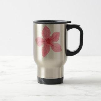 pink watercolor flower travel mug