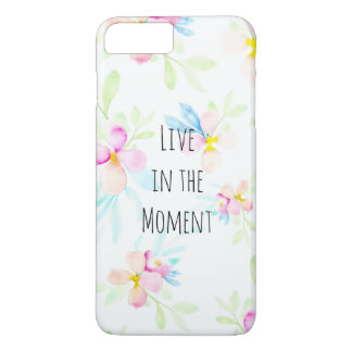 Pink Watercolor Flowers Inspirational Quote iPhone 7 Plus Case