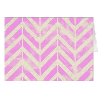 Pink Watercolor Herringbone Pattern Card