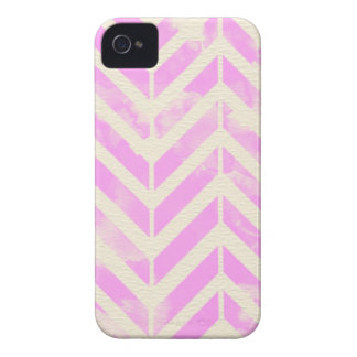 Pink Watercolor Herringbone Pattern Case-Mate iPhone 4 Case