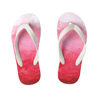 Pink Watercolor Kids Flip Flop