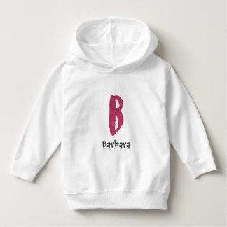 Pink watercolor letter B - custom name Hoodie