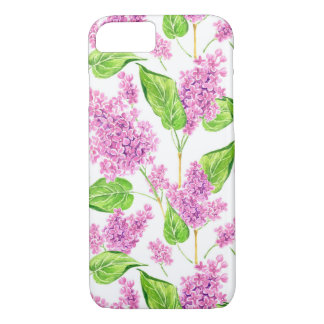 Pink watercolor lilac flowers Case-Mate iPhone case