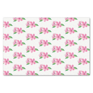 Pink Watercolor Love Blossoms Wedding Tissue Paper