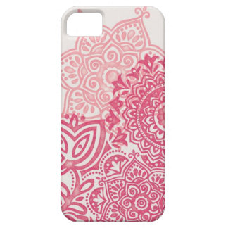 Pink Watercolor Mandala iPhone case