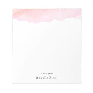 Pink Watercolor Notepads