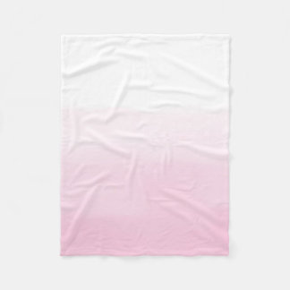 Pink Watercolor Ombre Fleece Blanket