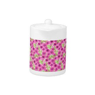 Pink watercolor petunia flower pattern