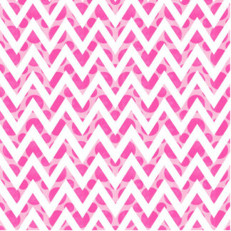 Pink watercolor  polka dots chevron pattern standing photo sculpture