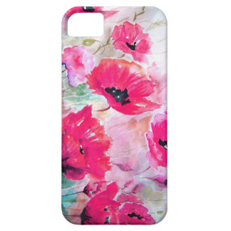 Pink watercolor Poppies. iPhone 5 Case
