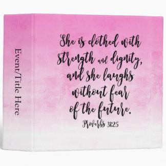Pink Watercolor Proverbs 31 Christian Womens Bible Binders