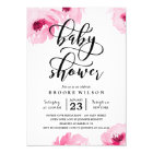 Pink Watercolor Roses Baby Shower Invitation
