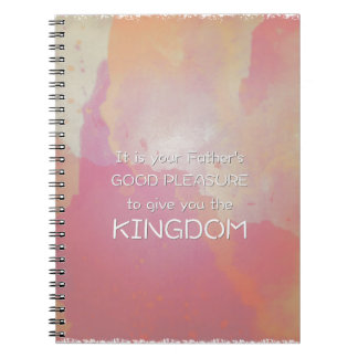 Pink Watercolor Scripture Spiral Notebook