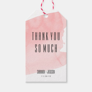 Pink Watercolor Wash Wedding Favor Tag Pack Of Gift Tags