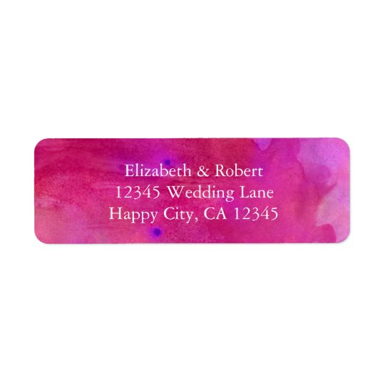 Pink Watercolor Wedding