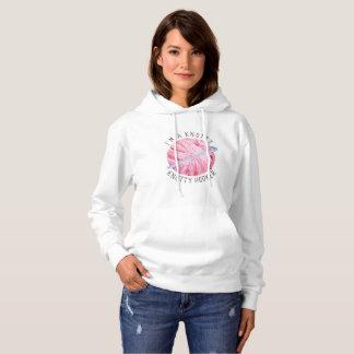 Pink Watercolor Yarn Crochet Joke Hoodie