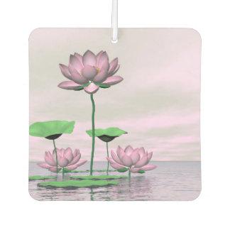 Pink waterlilies and lotus flowers - 3D render Air Freshener