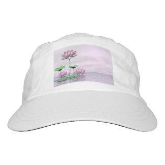 Pink waterlilies and lotus flowers - 3D render Hat