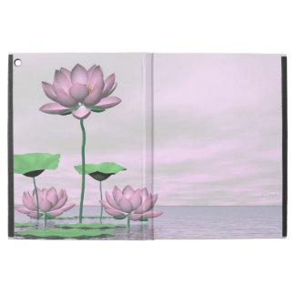 "Pink waterlilies and lotus flowers - 3D render iPad Pro 12.9"" Case"
