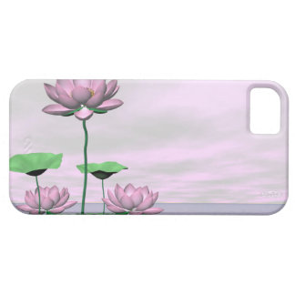 Pink waterlilies and lotus flowers - 3D render iPhone 5 Case