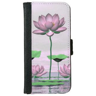 Pink waterlilies and lotus flowers - 3D render iPhone 6 Wallet Case