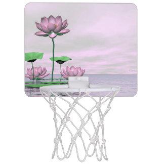 Pink waterlilies and lotus flowers - 3D render Mini Basketball Hoop