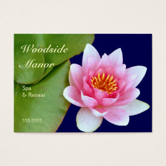 Pink Waterlily Business Card