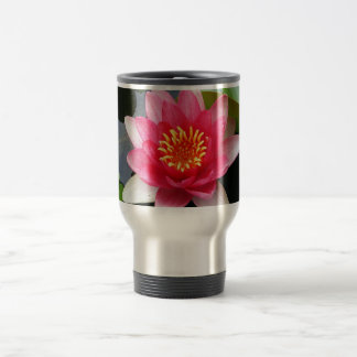 Pink Waterlily Travel Mug