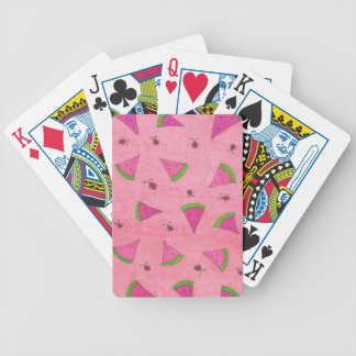 Pink Watermelon and Lady Bugs Bicycle Playing Cards