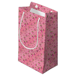 Pink Watermelon and Lady Bugs Small Gift Bag