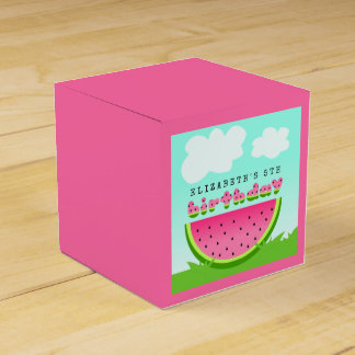 Pink Watermelon Birthday Picnic Party Favor Box