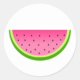 Pink Watermelon Classic Round Sticker