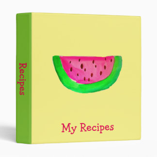 Pink Watermelon fruit pop art recipe 3 Ring Binders
