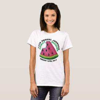 Pink Watermelon Slice Custom Family Reunion Picnic T-Shirt