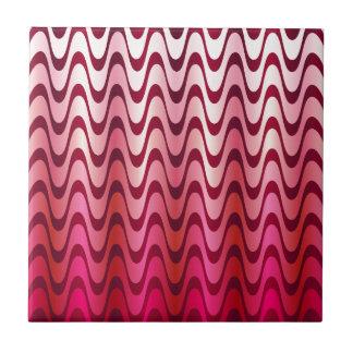 Pink waves tile