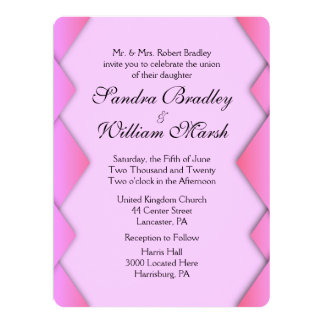 "Pink Weave 6.5"" X 8.75"" Invitation Card"