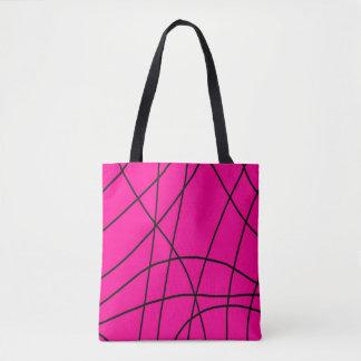Pink 'Web' Design Pattern Tote Bag