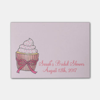 Pink Wedding Bridal Shower Cupcake Cake Post Its Post-it® Notes