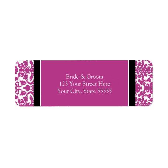 Pink Wedding Custom Return Address Labels
