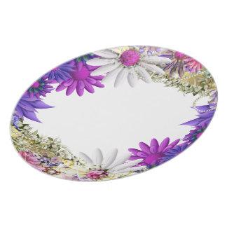 Pink wedding elegant dinnerware dinner plate