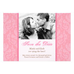Pink Wedding Invitation Template