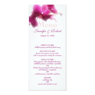 "Pink Wedding Menu 4"" X 9.25"" Invitation Card"